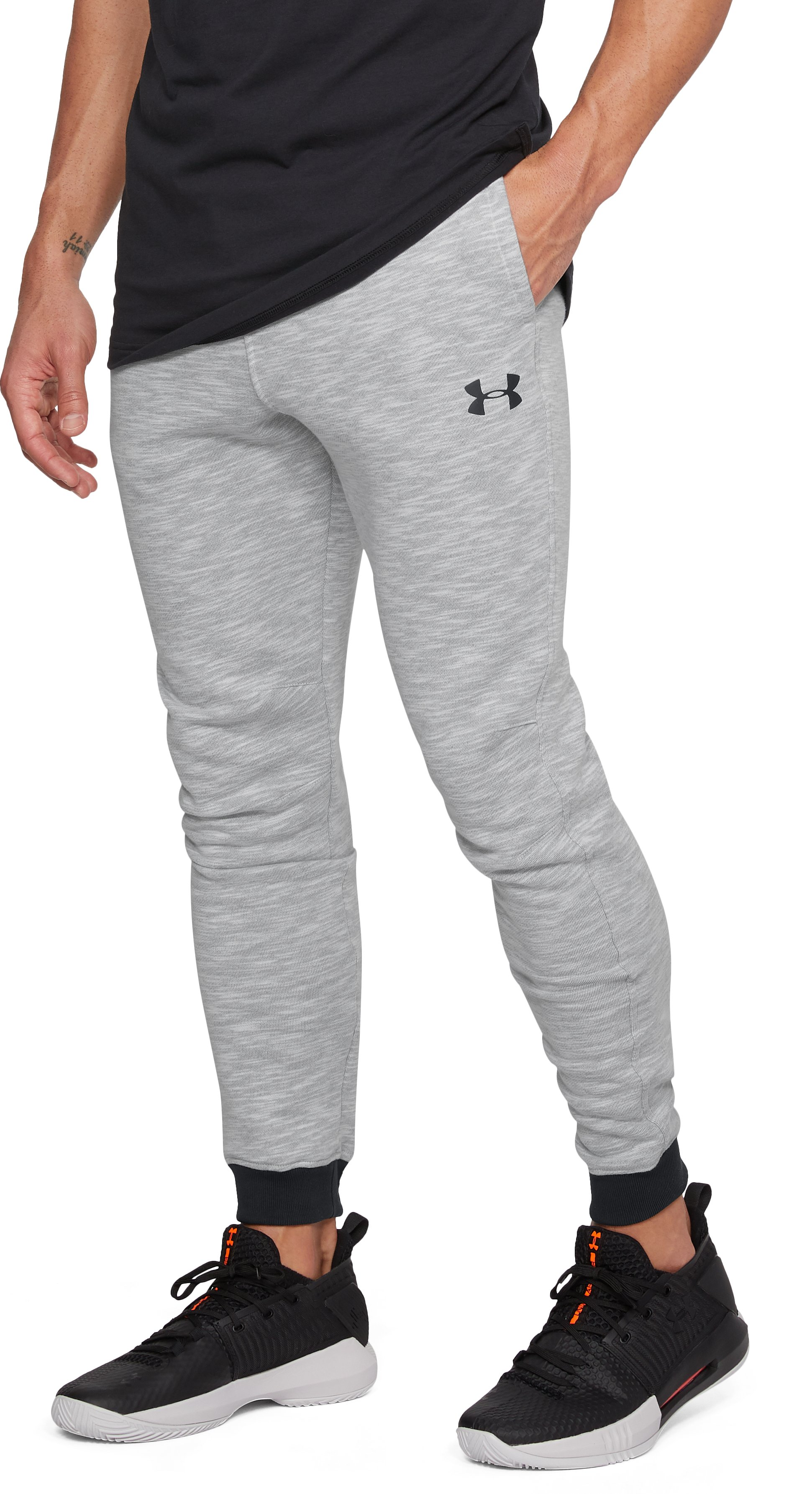Men's UA Baseline Tapered Pants, True Gray Heather
