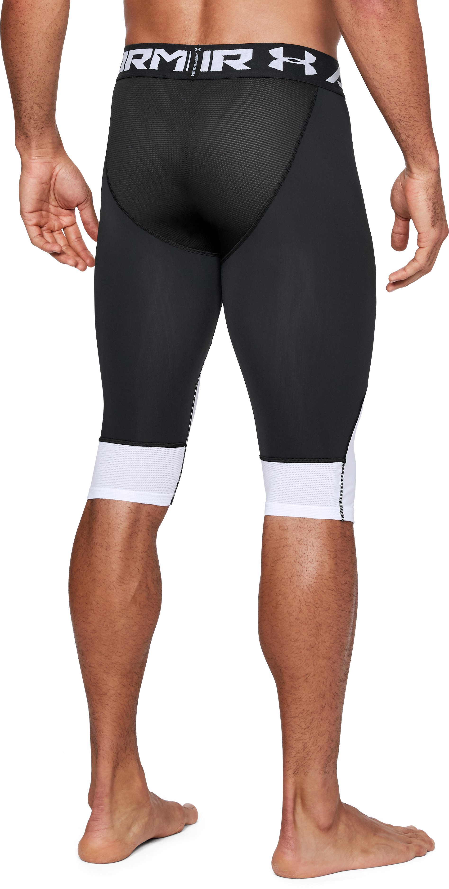 Men's UA Select Knee Tights, Black ,