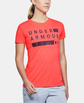 New Arrival Women's UA Siro Graphic Twist Short Sleeve  1 Color $32.99