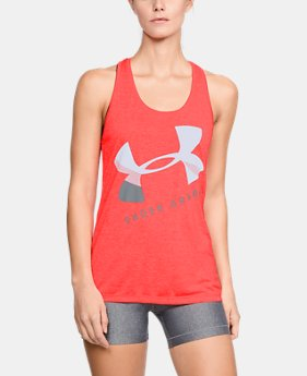 New to Outlet Women's UA Tech™ Graphic Twist Tank  1  Color Available $20.99