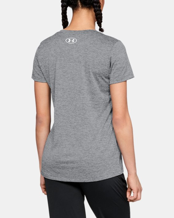 Women's UA Tech™ Graphic Twist V-Neck, Gray, pdpMainDesktop image number 2