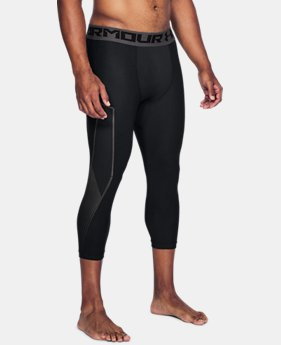 New Arrival Men's HeatGear® Armour Graphic ¾ Leggings  2 Colors $34.99