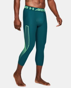 Men's HeatGear® Armour Graphic ¾ Leggings  2  Colors Available $45