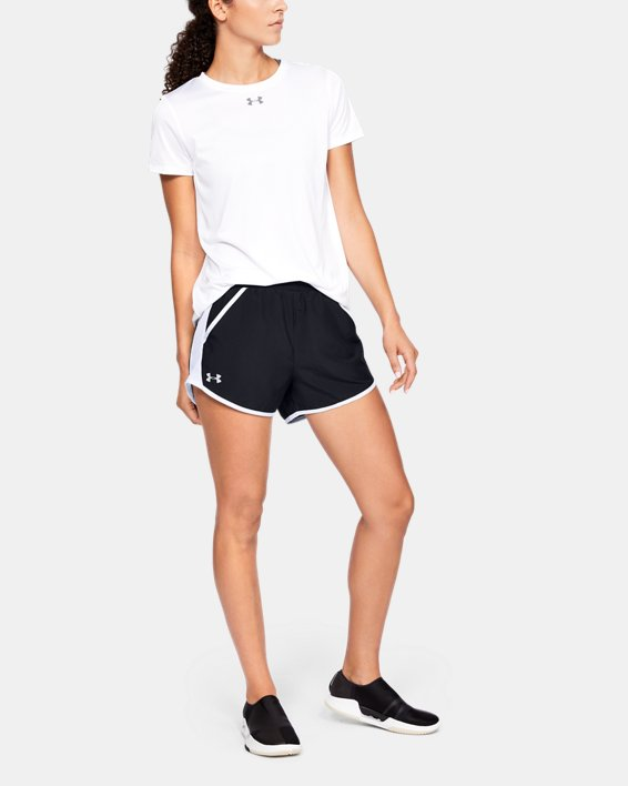 Women's UA Fly-By Shorts, Black, pdpMainDesktop image number 1