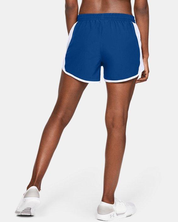Women's UA Fly-By Shorts, Blue, pdpMainDesktop image number 2
