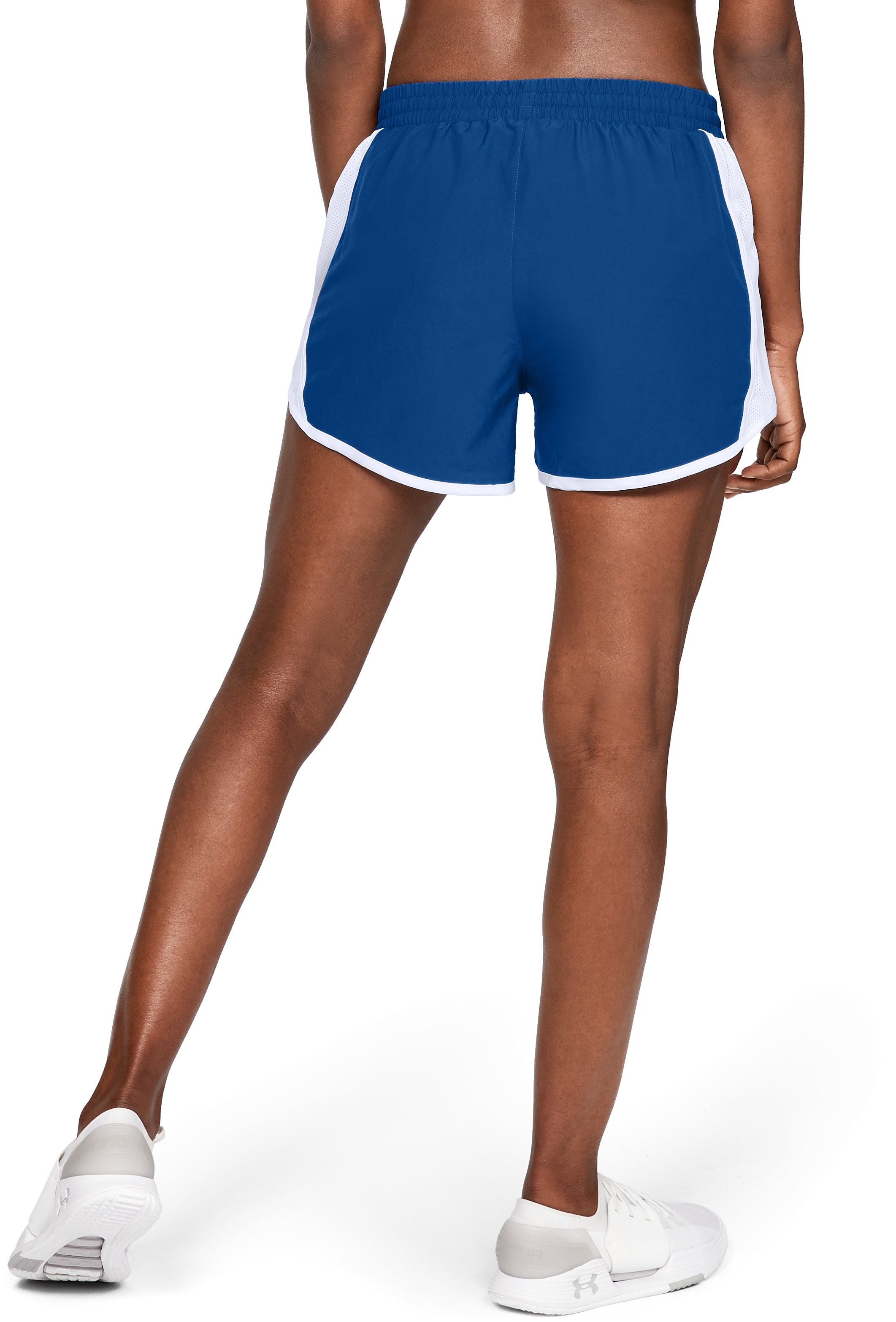 Women's UA Fly-By Team Shorts, Royal,
