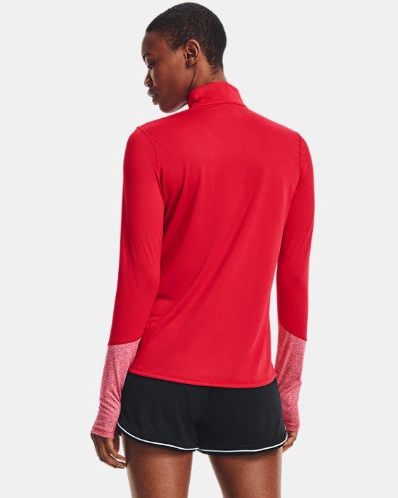 Women's UA Locker ½ Zip, Red, pdpMainDesktop image number 2