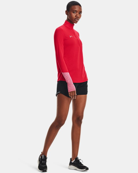 Women's UA Locker ½ Zip, Red, pdpMainDesktop image number 1