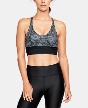 Women's UA Longline Printed Sports Bralette   1  Color Available $17.5