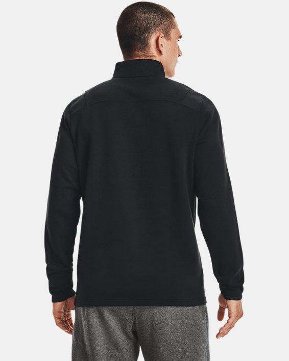 Men's UA Hustle Fleece ¼ Zip, Black, pdpMainDesktop image number 3