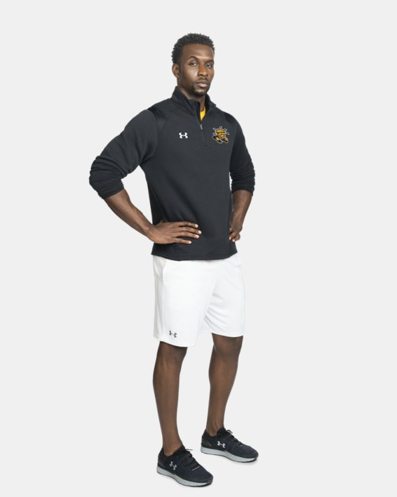Men's UA Hustle Fleece ¼ Zip, Black, pdpMainDesktop image number 1