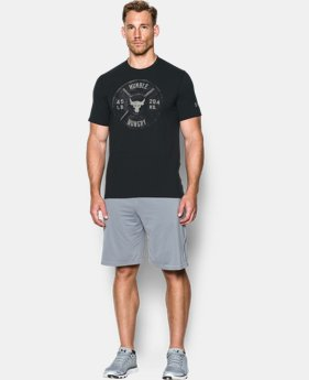 New Arrival Men's UA x Project Rock Humble Hungry T-Shirt *Ships 12/20/2016*   $39.99