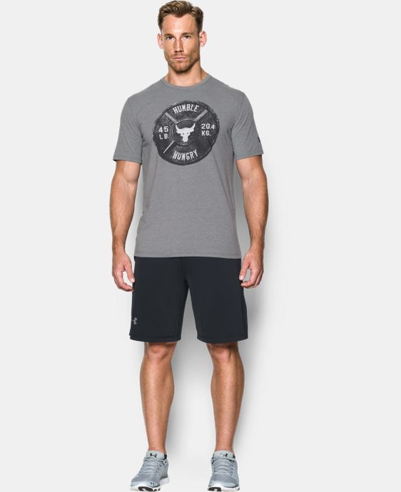 New Arrival Men's UA x Project Rock Humble Hungry T-Shirt  1 Color $34.99