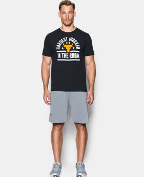 Men's UA x Project Rock Hardest Worker T-Shirt *Ships 2/3/2017*  1 Color $39.99