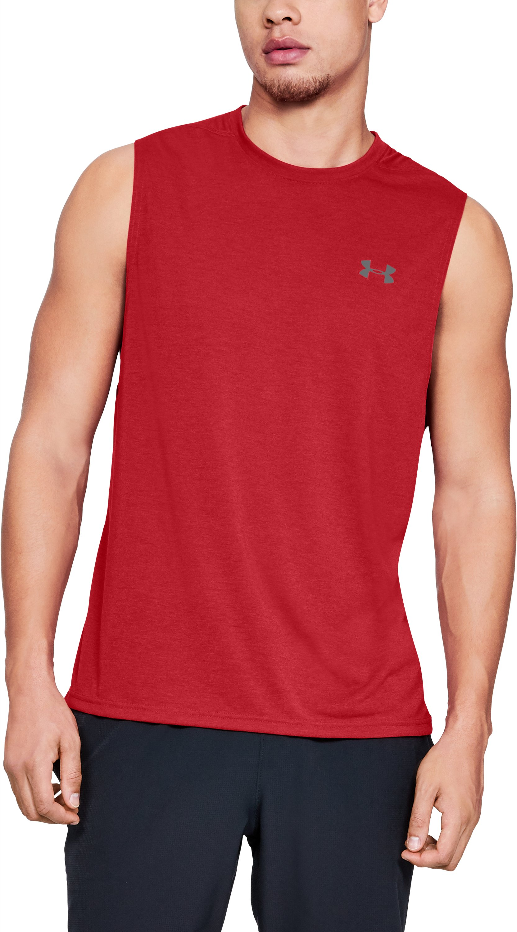 Men's UA Siro Muscle Tank, Red,