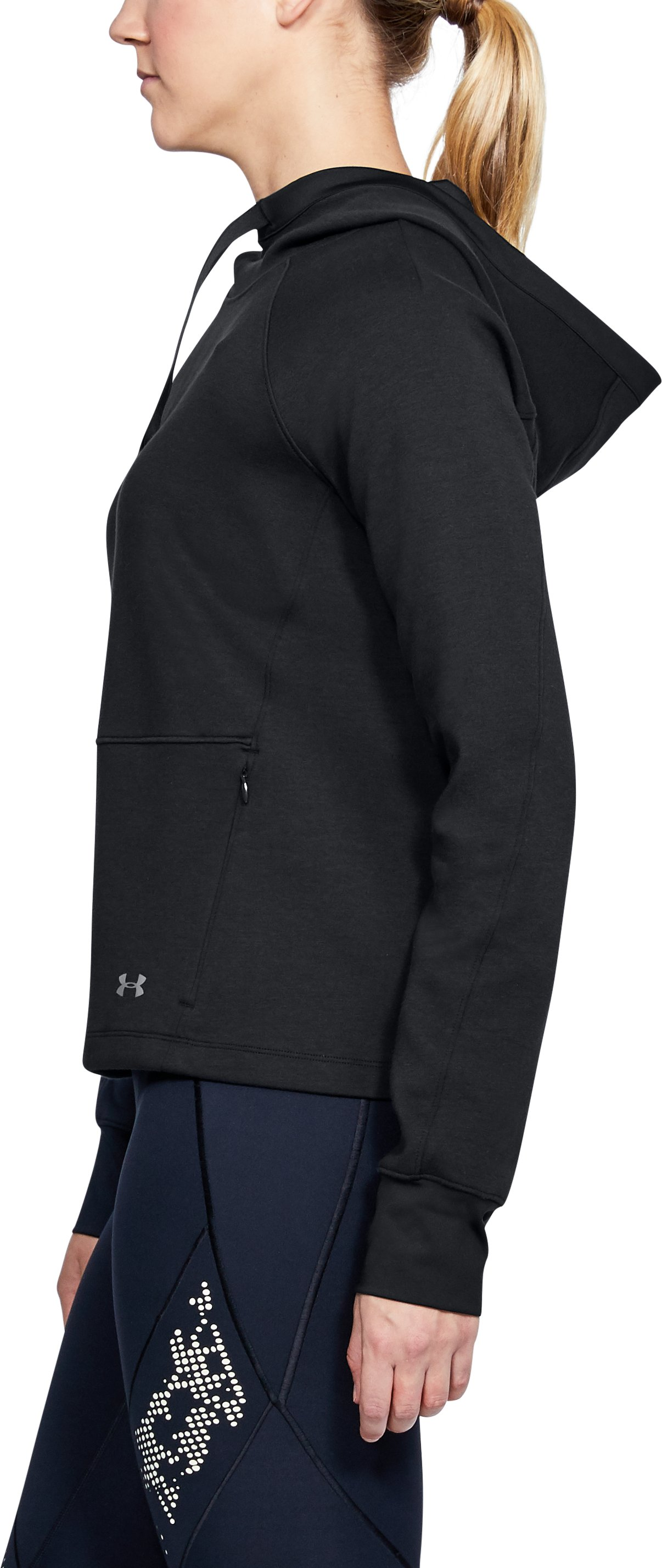 Women's UA Spacer Hoodie, Black , undefined