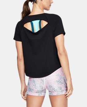Women's UA Microthread Terry Short Sleeve  1  Color Available $30 to $37.5