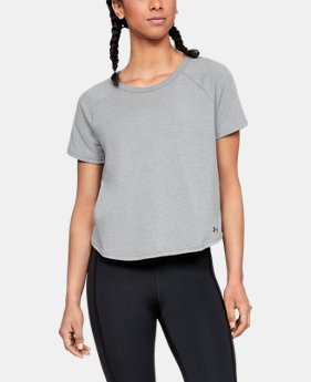Women's UA Microthread Terry Short Sleeve  1  Color Available $50