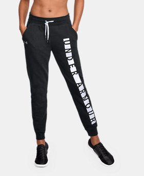 New Arrival Women's UA Favorite Fleece Graphic Pants  3 Colors $55