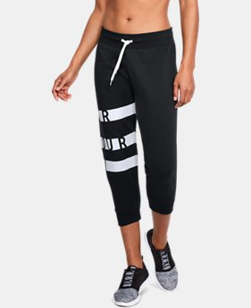New Arrival Women's UA Favorite Fleece Graphic Capris  1 Color $50