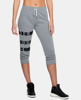 Women's UA Favorite Fleece Graphic Capris  1  Color Available $50