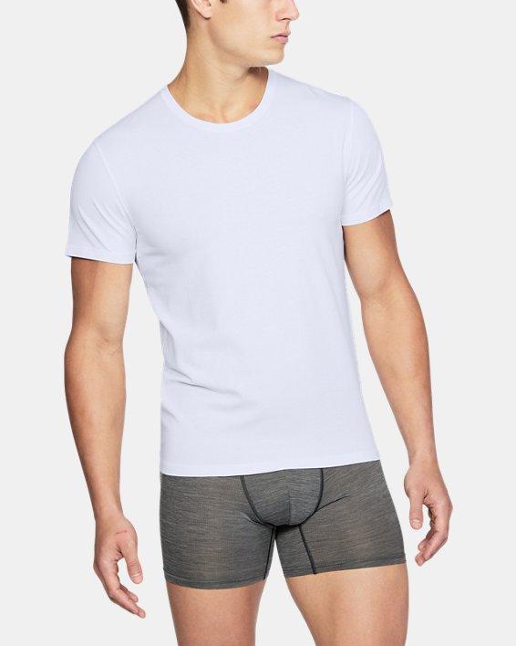 Men's Charged Cotton® Crew Undershirt, White, pdpMainDesktop image number 0