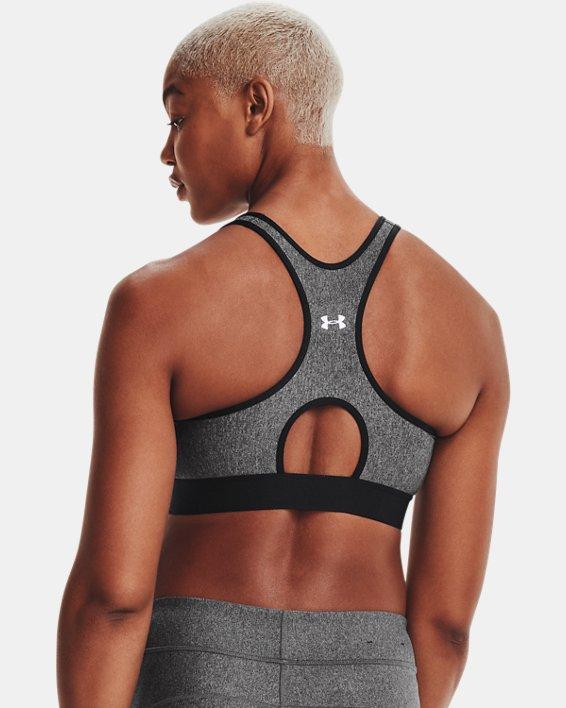 Soutien-gorge de sport chiné à maintien modéré Armour® pour femme, Gray, pdpMainDesktop image number 7