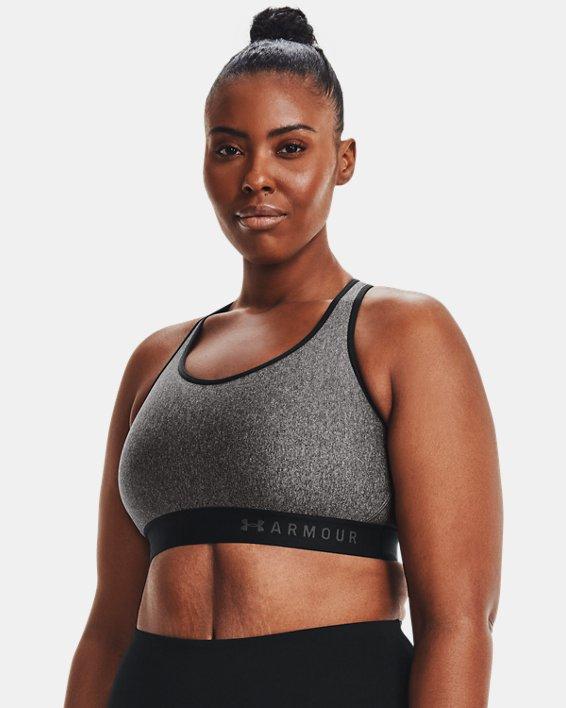 Soutien-gorge de sport chiné à maintien modéré Armour® pour femme, Gray, pdpMainDesktop image number 5