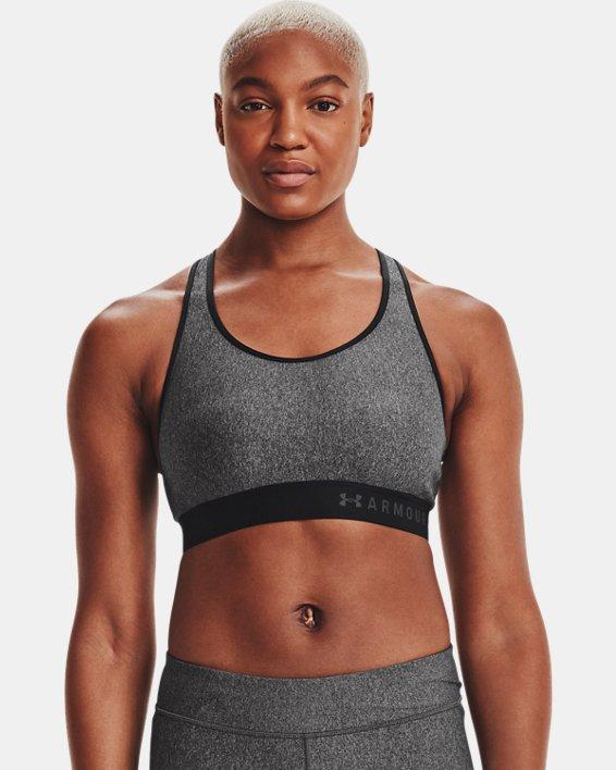 Soutien-gorge de sport chiné à maintien modéré Armour® pour femme, Gray, pdpMainDesktop image number 4