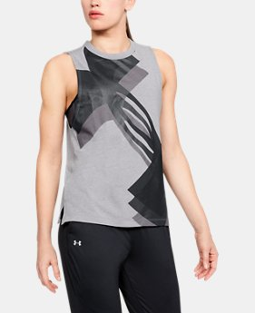 Women's UA Overlay Logo Muscle Tank  1  Color Available $30
