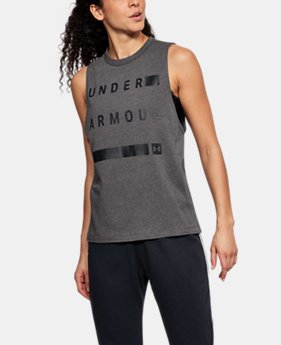 Women's UA Linear Wordmark Muscle Tank  1  Color Available $35