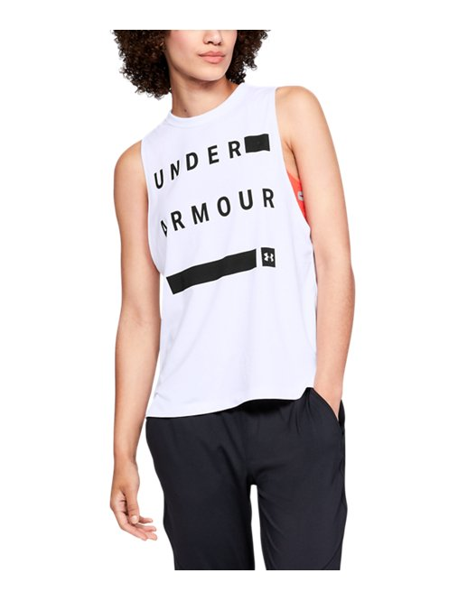 aaf0a11617 Women's UA Linear Wordmark Muscle Tank | Under Armour US