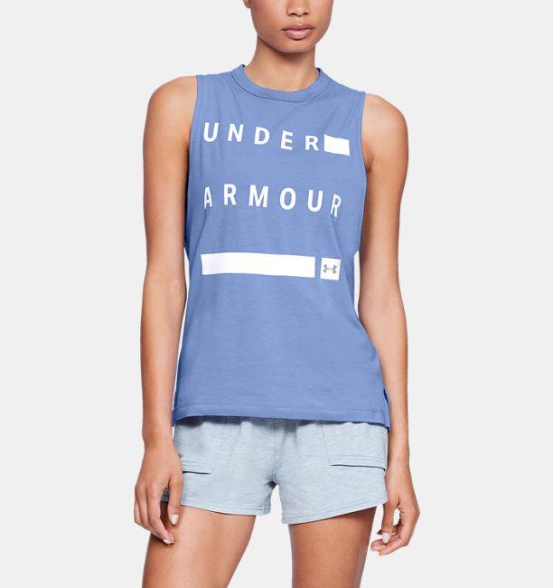 3e01c732fb1b9c Women s UA Linear Wordmark Muscle Tank