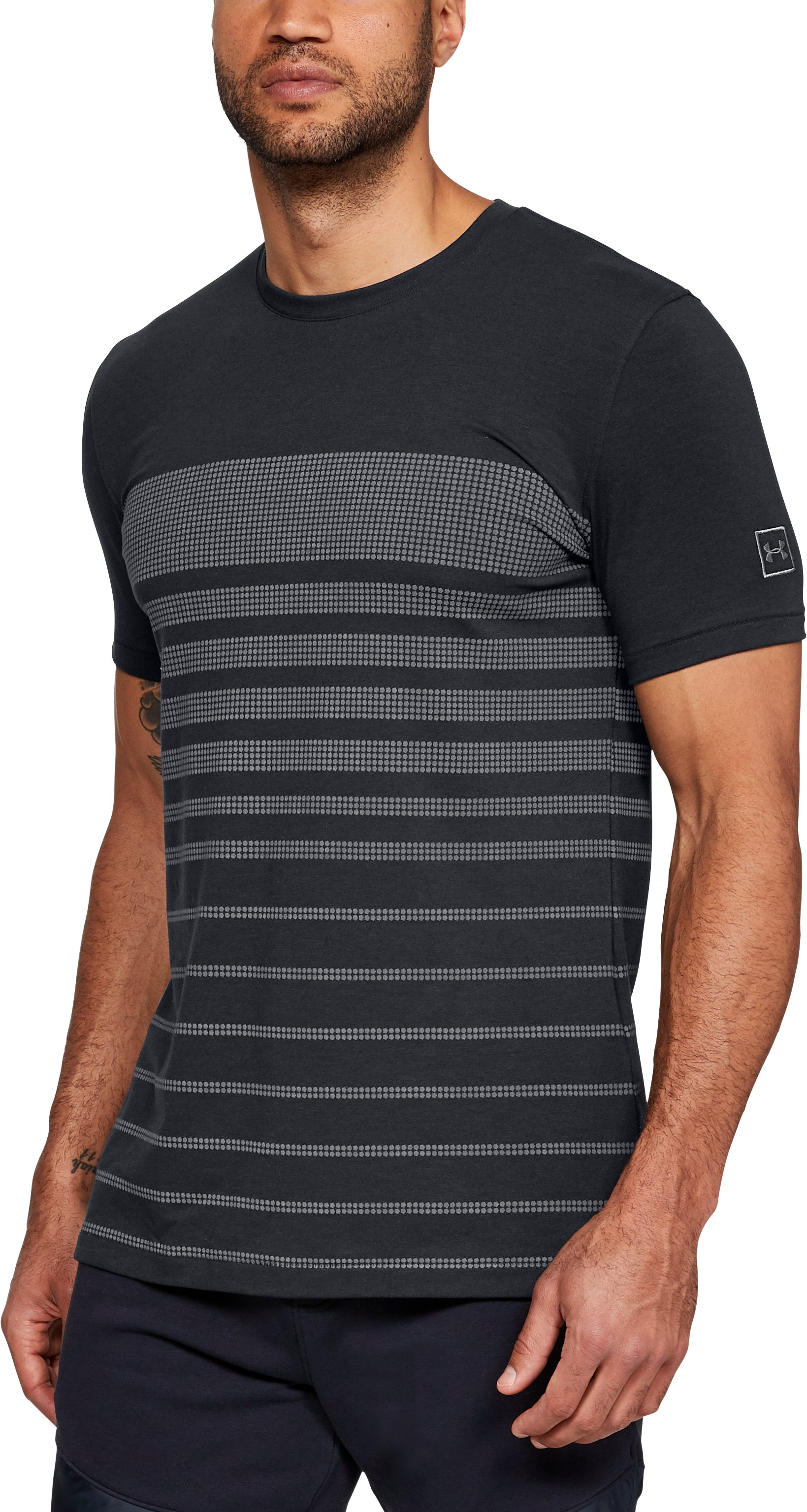 Men's UA Sportstyle Stripe T-Shirt, Black