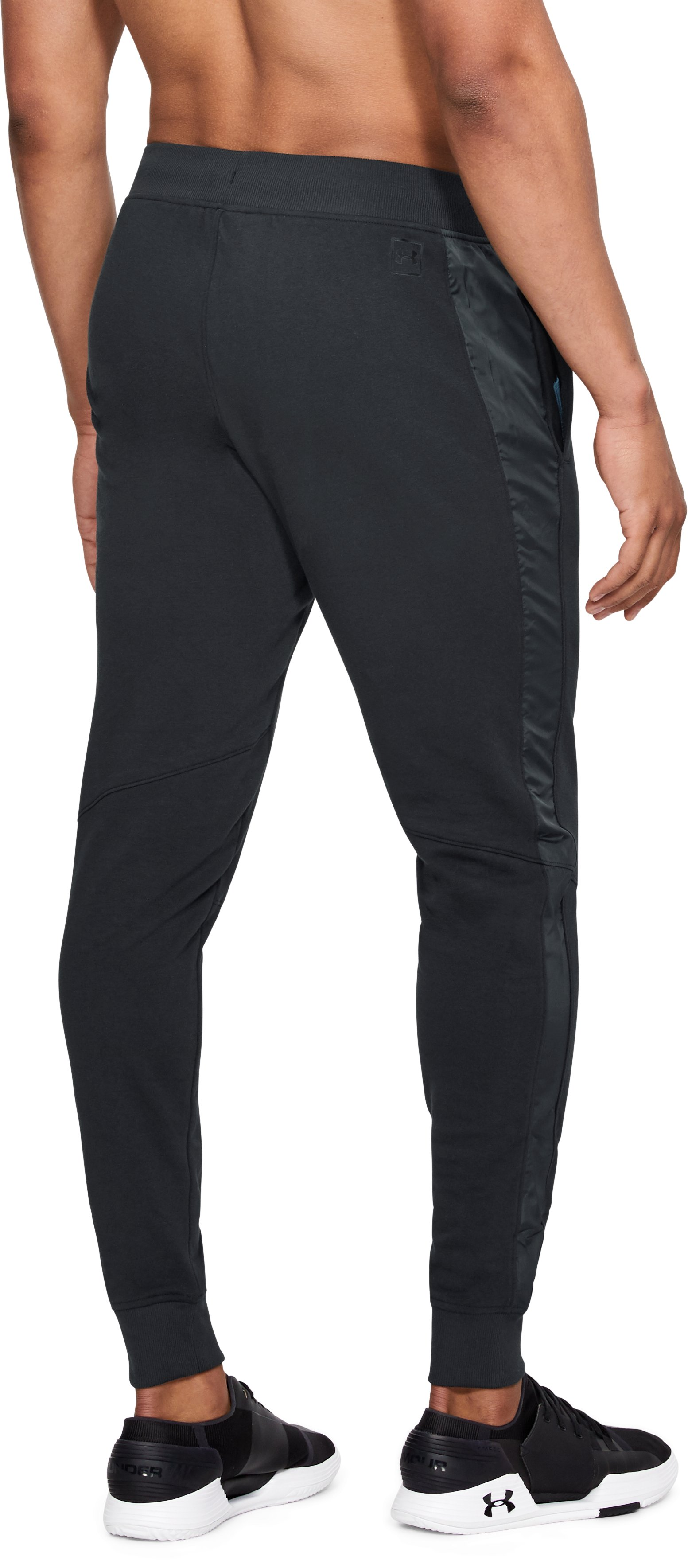 Men's UA Threadborne Terry Joggers, Black , undefined