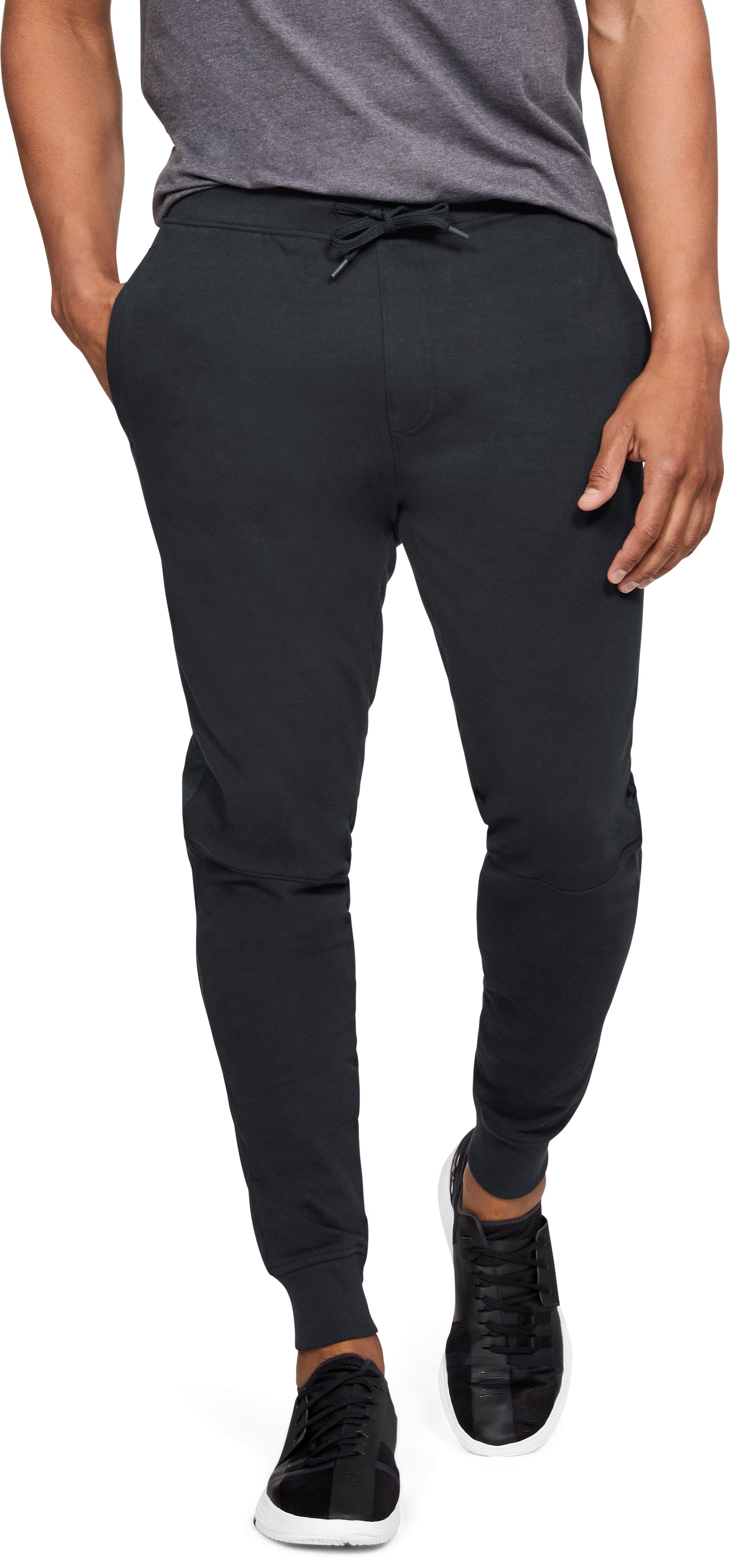 Men's UA Microthread Terry Joggers, Black