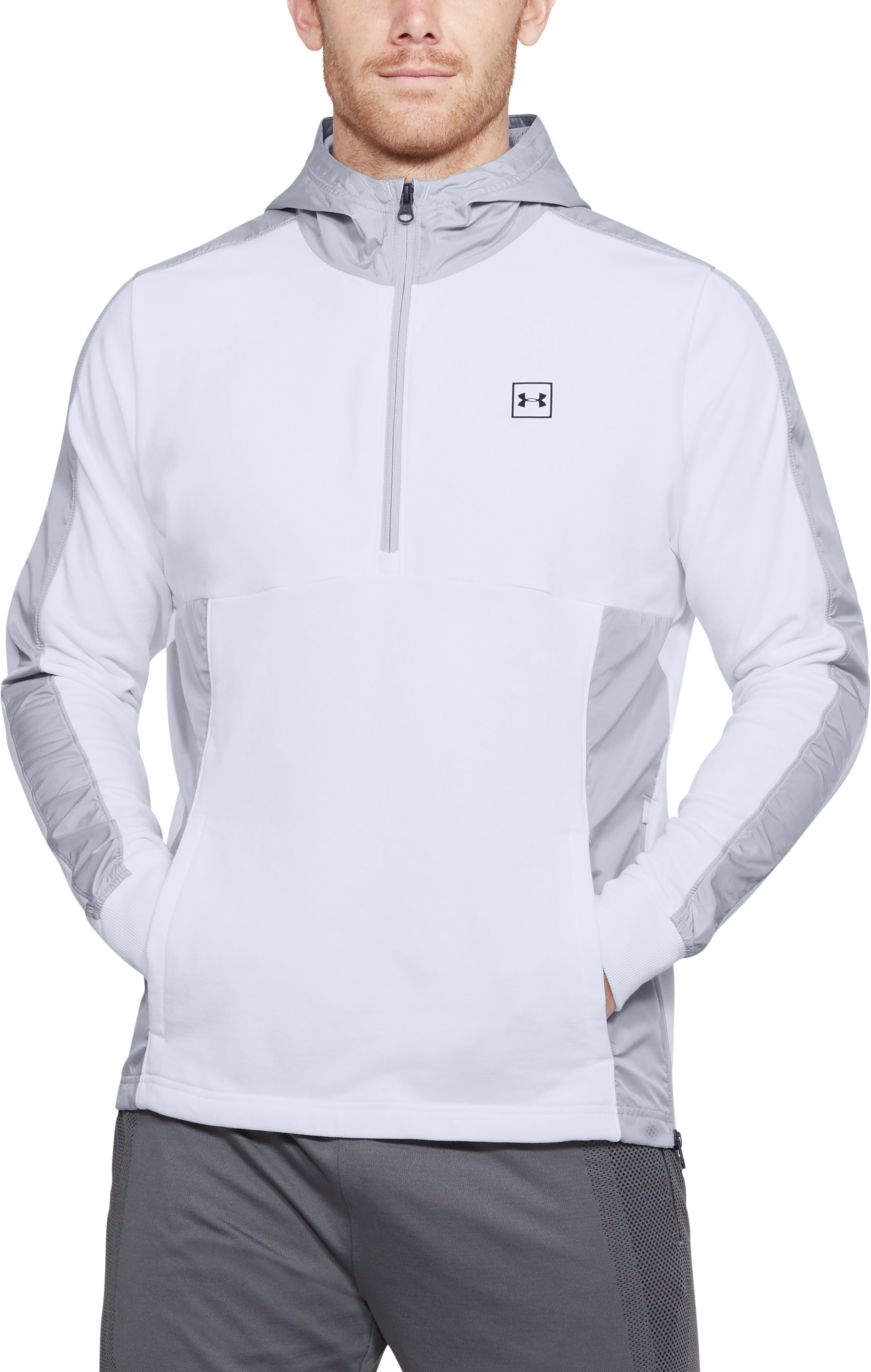 Men's UA Microthread Terry Hoodie, White