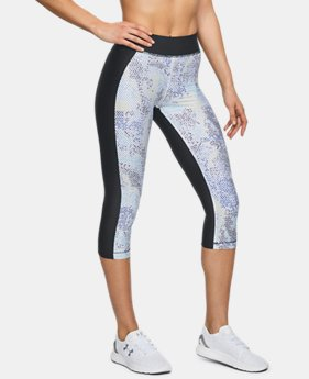 Women's HeatGear® Armour Print Capri  3  Colors Available $27