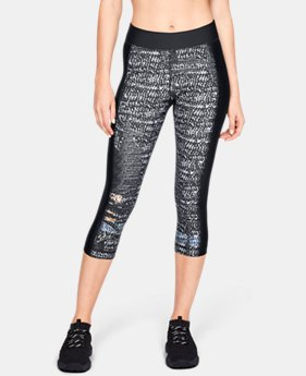 Women's HeatGear® Armour Print Capri  4  Colors Available $40