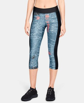 Women's HeatGear® Armour Print Capri  4  Colors Available $45