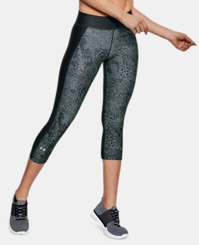 MOTHER'S DAY TOP GIFT Women's HeatGear® Armour Print Capri  2  Colors Available $33.75