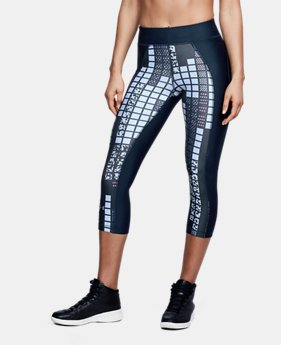 Women's HeatGear® Armour Printed Capri  1 Color $40