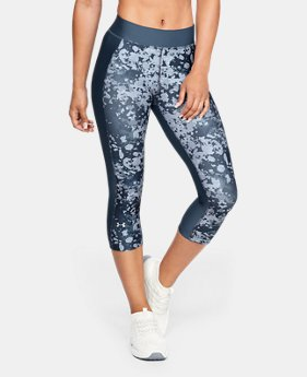 Women's HeatGear® Armour Print Capri  1  Color Available $45