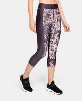 Women's HeatGear® Armour Print Capri LIMITED TIME: FREE SHIPPING 1  Color Available $45