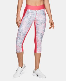 Women's HeatGear® Armour Printed Capri LIMITED TIME: FREE U.S. SHIPPING 1 Color $40