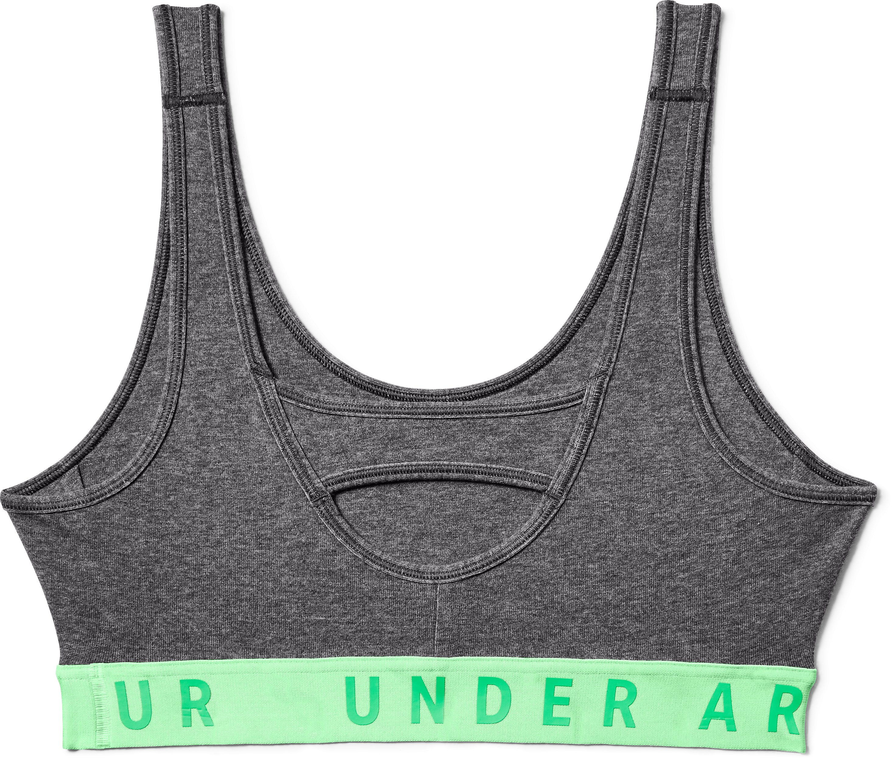 Women's UA Favorite Cotton Heathered Everyday Bra, Charcoal Full Heather,