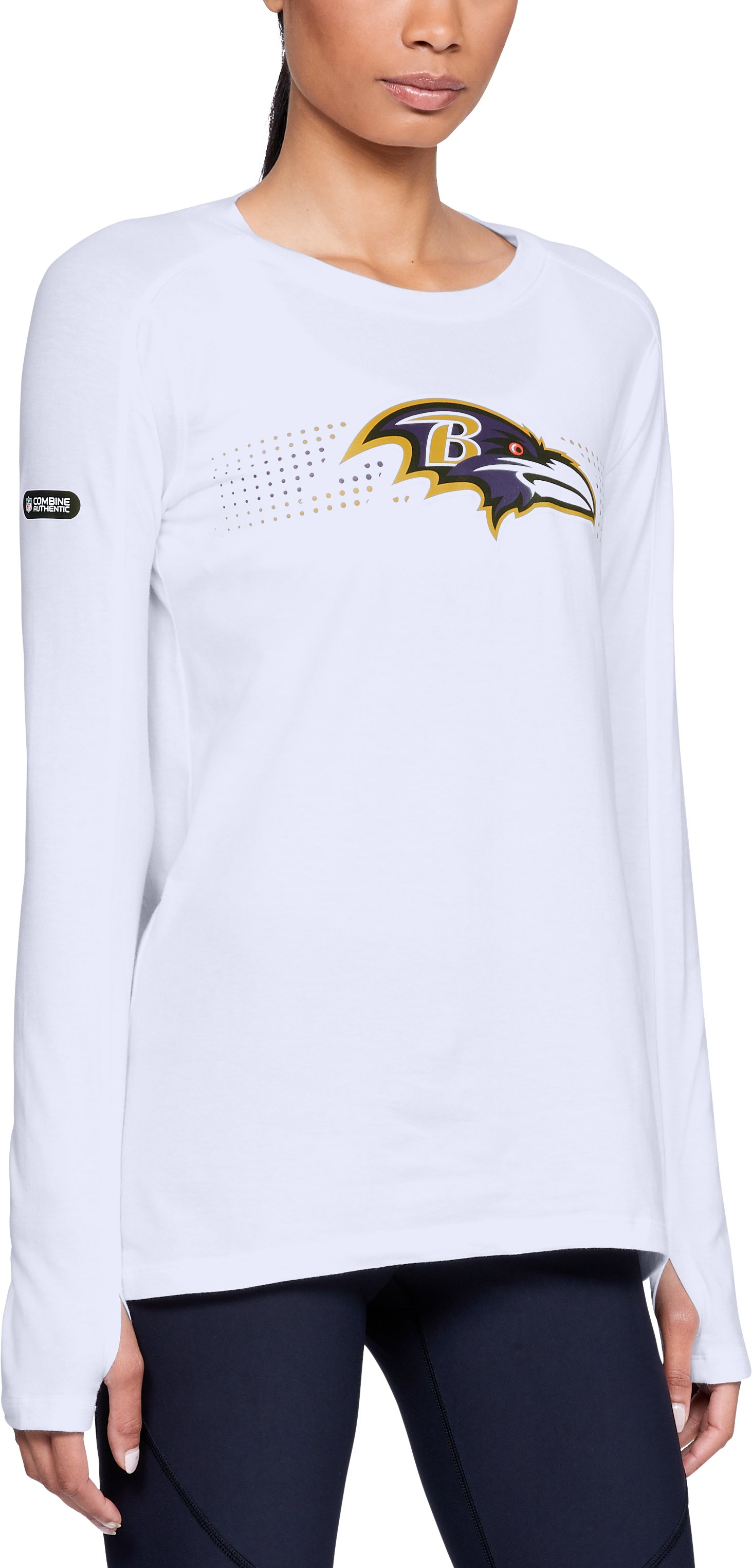 Women's NFL Combine Authentic Dot Stripe Long Sleeve T-Shirt 12 Colors $50.00