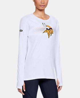 New Arrival Women's NFL Combine Authentic Dot Stripe Long Sleeve T-Shirt  1  Color Available $50
