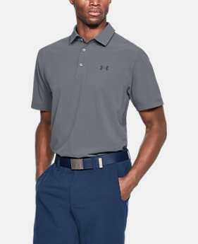 Men's UA Playoff Vented Woven Polo FREE U.S. SHIPPING 5  Colors Available $65