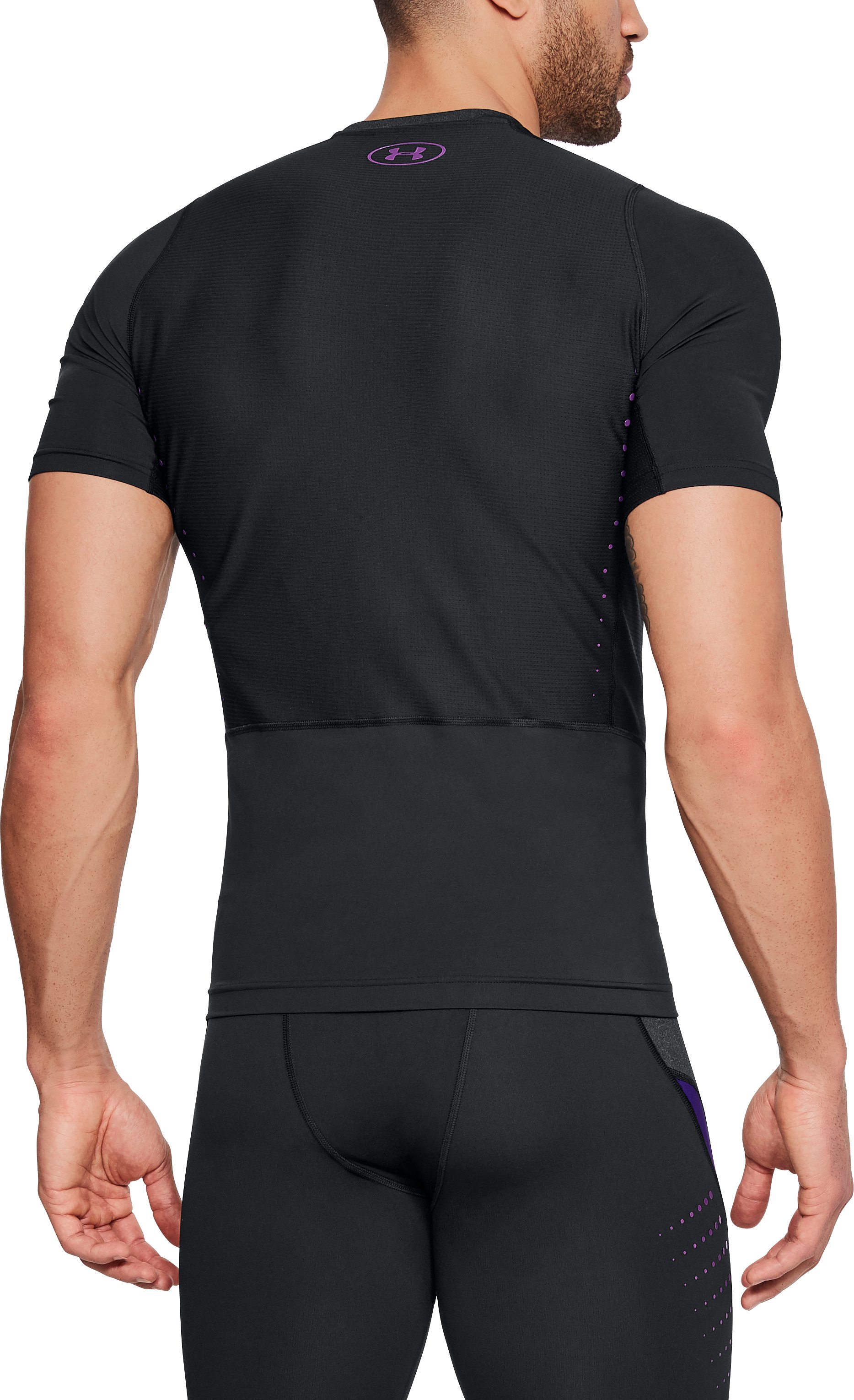 Men's NFL Combine Authentic Event Compression Short Sleeve, Black ,
